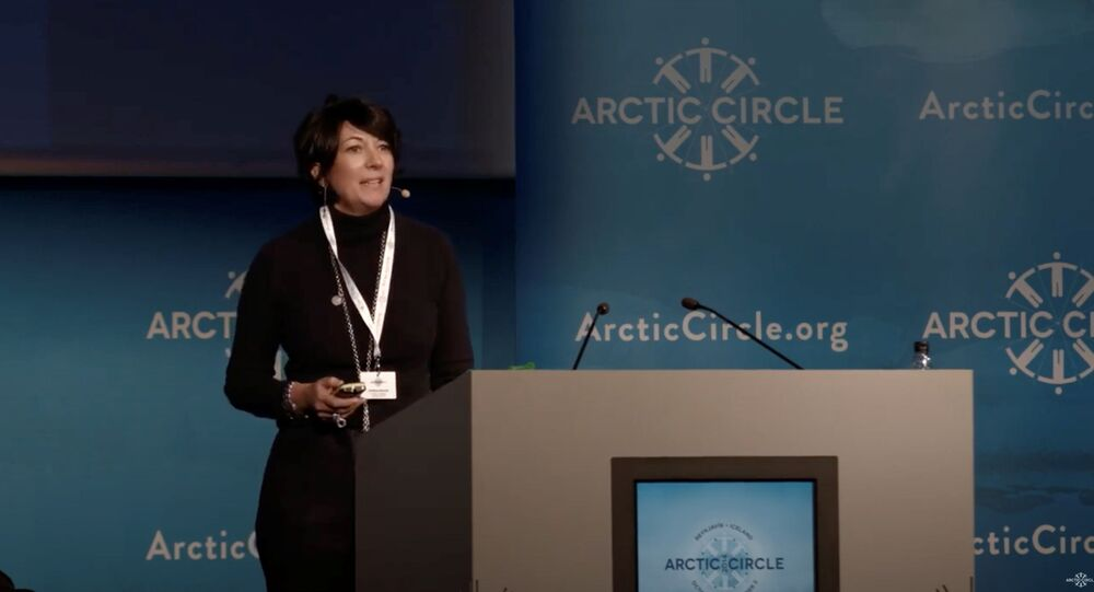 Ghislaine Maxwell speaks at the Arctic Circle Forum in Reykjavik, Iceland October 2013.