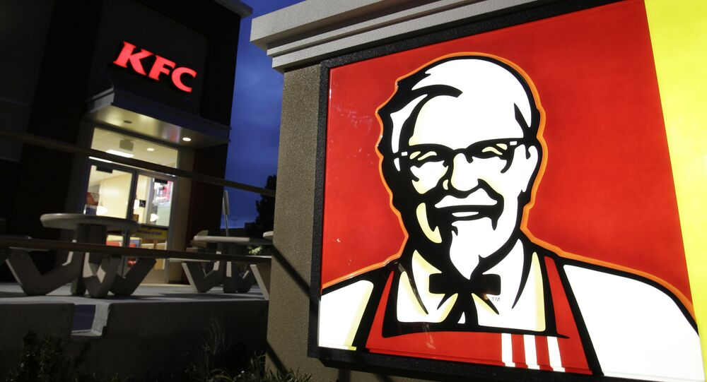 In this photo, taken 18 April 2011, a KFC restaurant is shown in Mountain View, California..