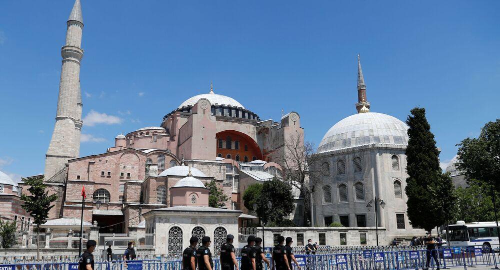 Hagia Sophia, or Ayasofya-i Kebir Camii, in Istanbul