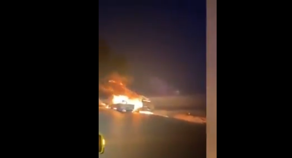 Flame Allegedly Consuming US trucks in Iraq
