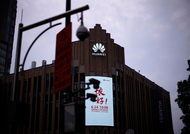Huawei's new flagship store is seen ahead of tomorrow's official opening in Shanghai, following the coronavirus disease (COVID-19) outbreak, China June 23, 2020