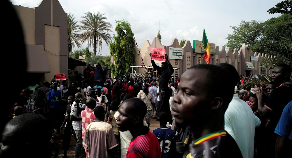 Supporters of Imam Mahmoud Dicko and other opposition political parties protest after  President  Ibrahim Boubacar Keita rejected concessions, aimed at resolving a months-long political stand-off, in Bamako, Mali 10 July 2020.