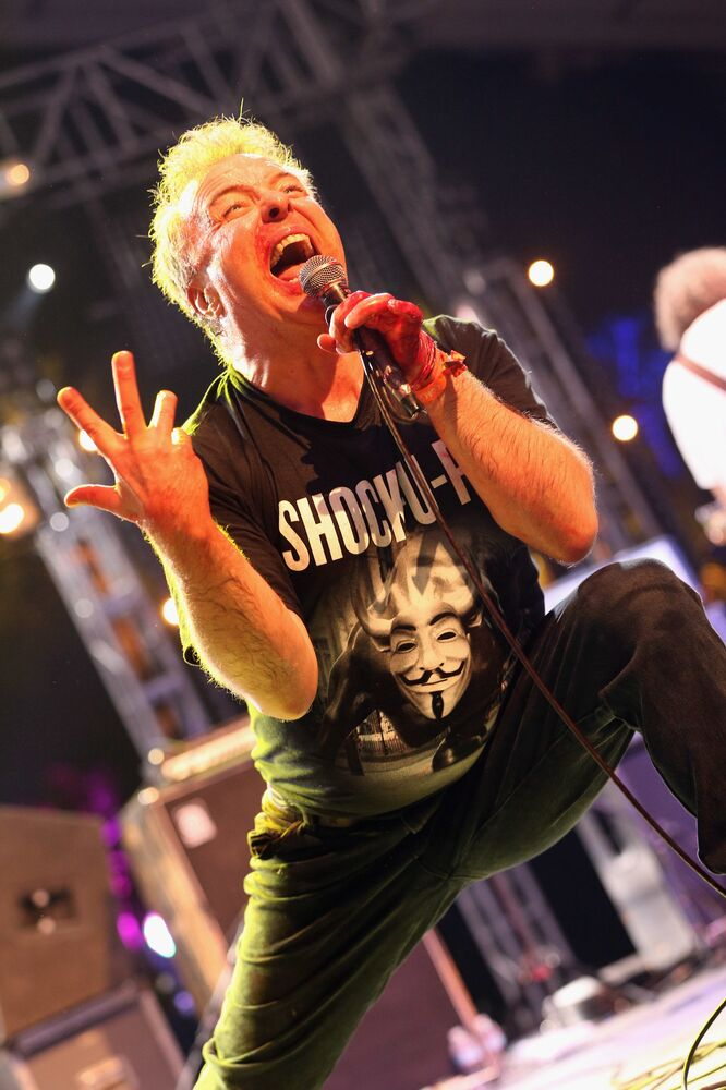 Singer Jello Biafra performs onstage during day 1 of the 2013 Coachella Valley Music & Arts Festival at the Empire Polo Club on 12 April 2013 in Indio, California.