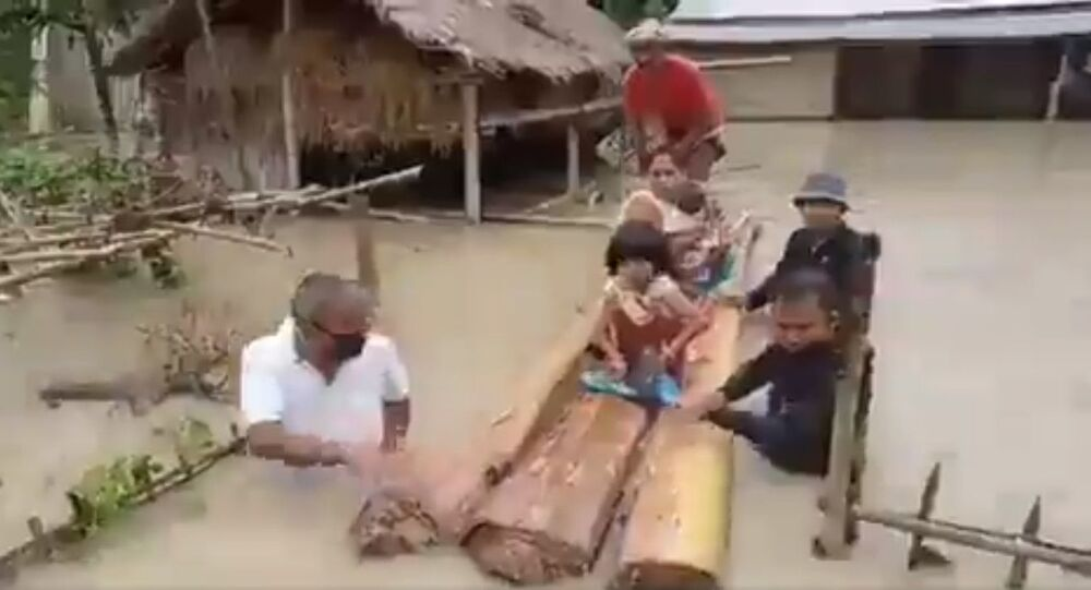 While many would stay back in their comforts, this MLA in Assam is out in flood waters to rescue his constituents and livestocks