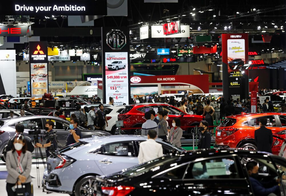 A general view during the media day of the 41st Bangkok International Motor Show after the Thai government eased measures to prevent the spread of the coronavirus disease (COVID-19) in Bangkok, Thailand July 14, 2020.