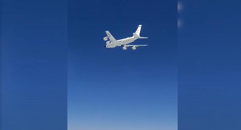 Aerial intercept of a US RC-135 aircraft