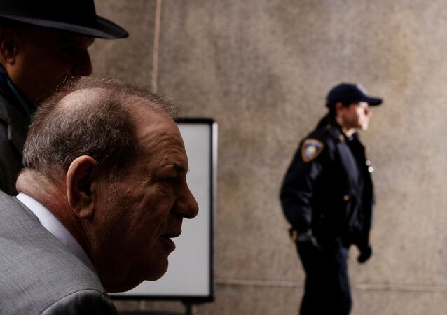Film producer Harvey Weinstein arrives at New York Criminal Court for his sexual assault trial in the Manhattan borough of New York City, New York, U.S., February 18, 2020.