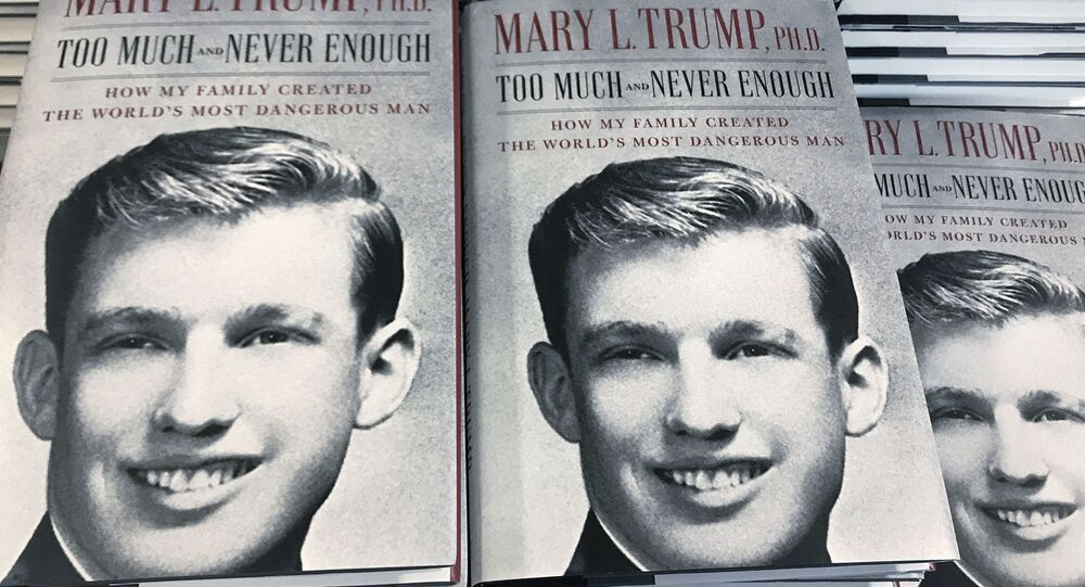 The book Too Much and Never Enough by Mary Trump is pictured in a bookstore in the Manhattan borough of New York City, New York, U.S., July 14, 2020.