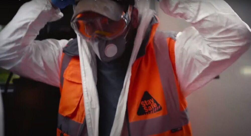 Banksy - London Underground Undergoes Deep Clean (July 14, 2020)