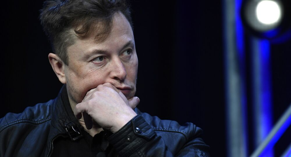 Tesla and SpaceX Chief Executive Officer Elon Musk listens to a question as he speaks at the SATELLITE Conference and Exhibition in Washington, Monday, 9 March 2020.