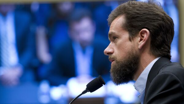 Twitter CEO Jack Dorsey testifies before the House Energy and Commerce Committee on Capitol Hill, Wednesday, Sept. 5, 2018, in Washington - Sputnik International