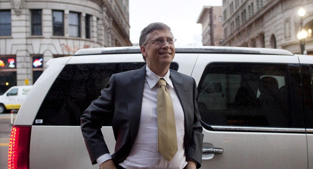 Microsoft founder Bill Gates arrives at the Frank E. Moss federal courthouse in Salt Lake City, Monday, 21 November 2011