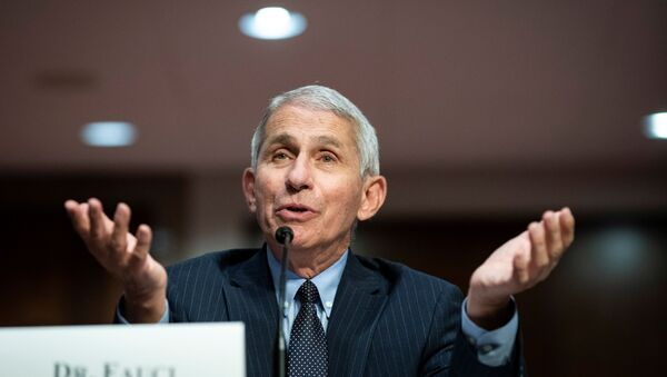 Anthony Fauci, director of the National Institute of Allergy and Infectious Diseases, speaks during a Senate Health, Education, Labor and Pensions Committee hearing on efforts to get back to work and school during the coronavirus disease (COVID-19) outbreak, in Washington, D.C., U.S. June 30, 2020 - Sputnik International