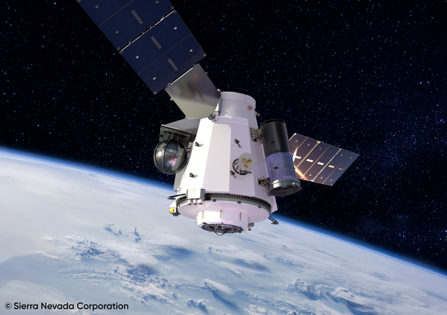 Artist's concept illustration of US Unmanned Orbital Outpost