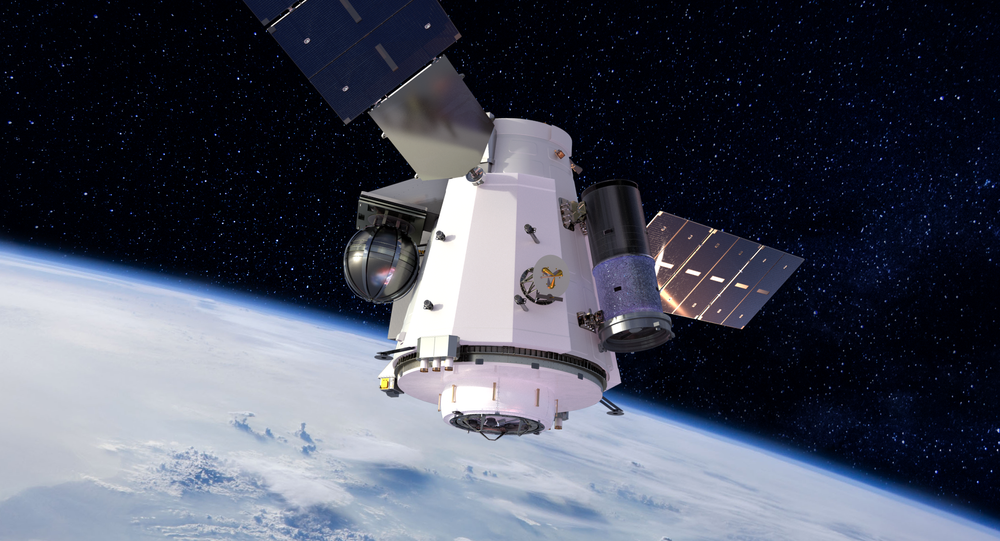 Artist's concept illustration of US Unmanned Orbital Outpost