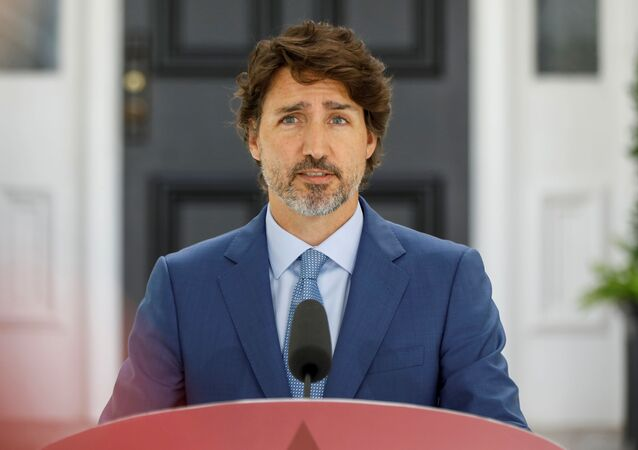 Canada's Prime Minister Justin Trudeau attends a news conference at Rideau Cottage, as efforts continue to help slow the spread of the coronavirus disease (COVID-19), in Ottawa, Ontario, Canada July 13, 2020.