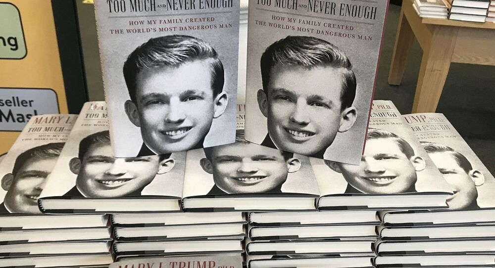 The book Too Much and Never Enough by Mary Trump is pictured in a bookstore in the Manhattan borough of New York City, New York, U.S., July 14, 2020. REUTERS/Carlo Allegri NO RESALES. NO ARCHIVES