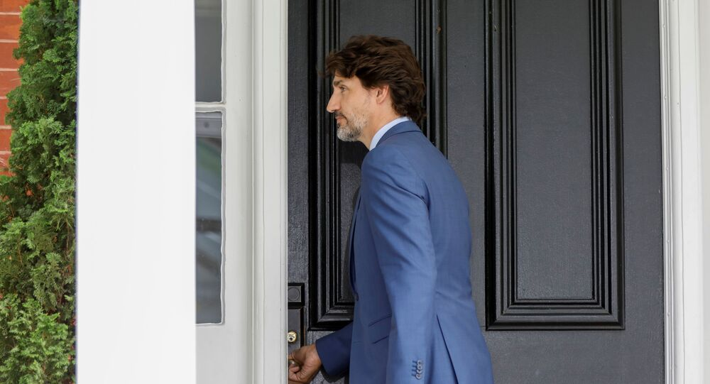 Canada's Prime Minister Justin Trudeau leaves a news conference at Rideau Cottage, as efforts continue to help slow the spread of the coronavirus disease (COVID-19), in Ottawa, Ontario, Canada July 13, 2020.