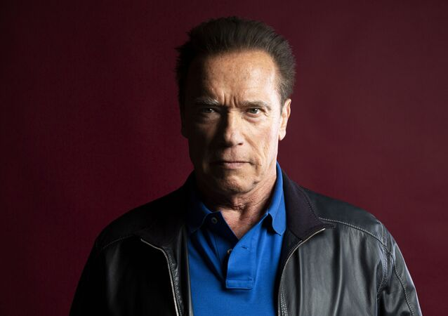 This Oct. 26, 2019 photo shows actor Arnold Schwarzenegger posing for a portrait to promote the film, Terminator: Dark Fate at the Four Seasons Hotel Los Angeles at Beverly Hills in Los Angeles