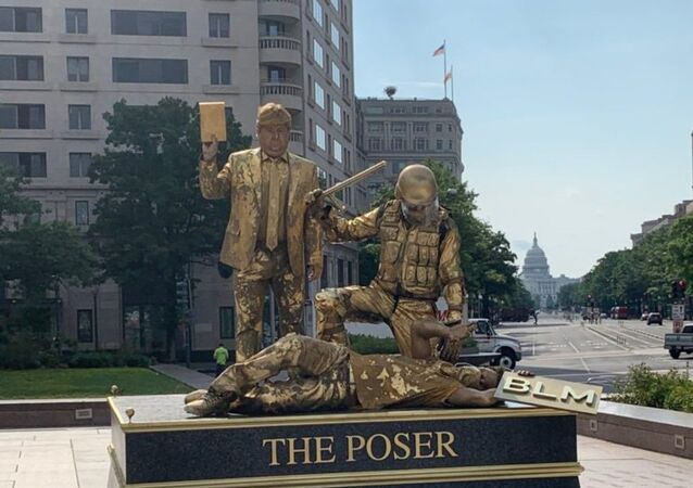 "Earlier Today, ""The Poser"" at Freedom Plaza. (7/17/2020)"