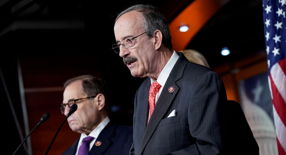 Chairman of the House Foreign Affairs Eliot Engel (D-NY) speaks during a media briefing after a House vote approving rules for an impeachment inquiry into U.S. President Trump on Capitol Hill in Washington, U.S., October 31, 2019.