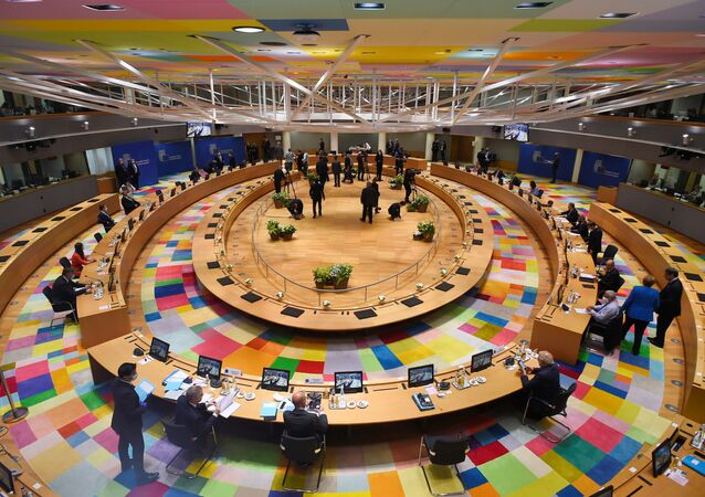 A general view prior to the start of the first face-to-face EU summit since the coronavirus disease (COVID-19) outbreak, in Brussels, Belgium July 18, 2020