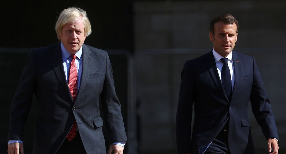 British Prime Minister Boris Johnson and French President Emmanuel Macron
