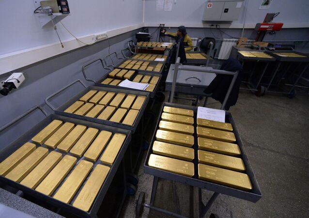 Russian gold bullions