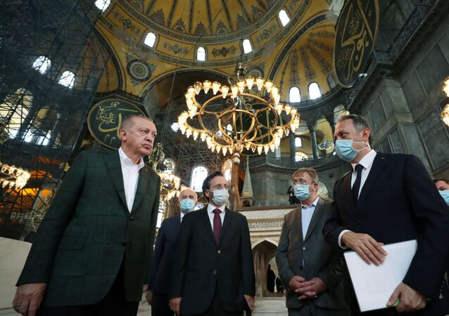 Turkish President Tayyip Erdogan Visits the Hagia Sophia