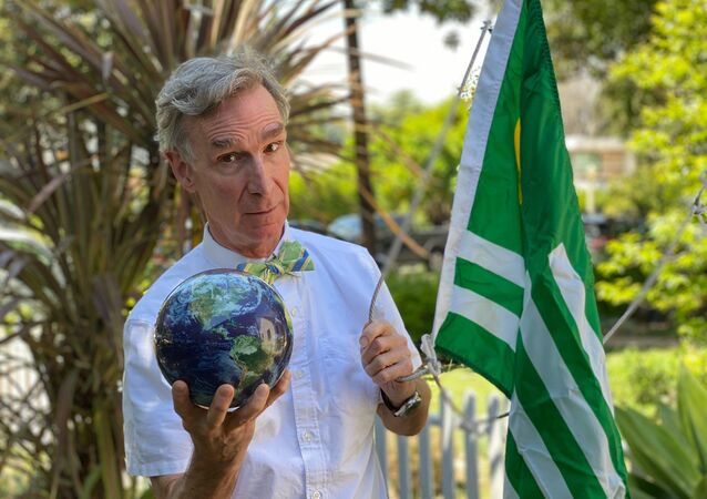 American science communicator, television presenter, and mechanical engineer William Sanford Nye, popularly known as Bill Nye the Science Guy.