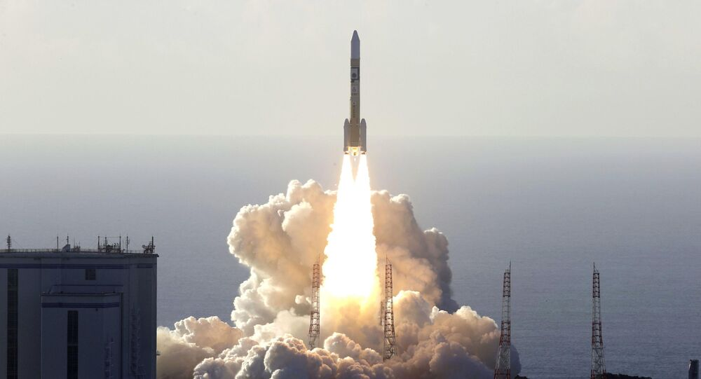 An H-2A rocket carrying the Hope Probe, developed by the Mohammed Bin Rashid Space Centre (MBRSC) in the United Arab Emirates (UAE) for the Mars explore, lifts off from the launching pad at Tanegashima Space Center on the southwestern island of Tanegashima, Japan, in this photo taken by Kyodo July 20, 2020.