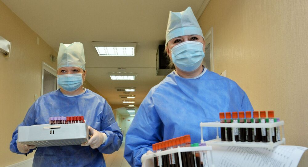 Medics in the Russian military hospital after coronavirus vaccine trials
