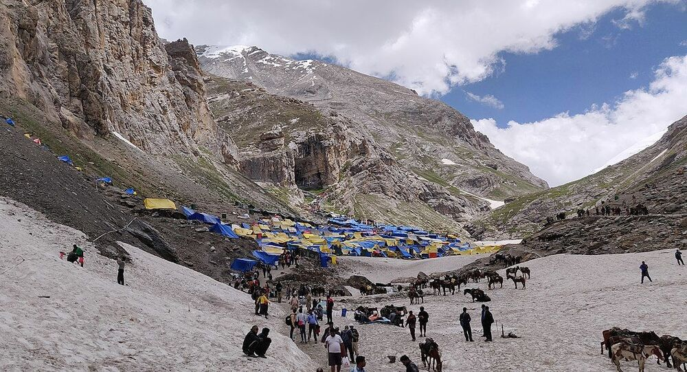 Amarnath Cave Front