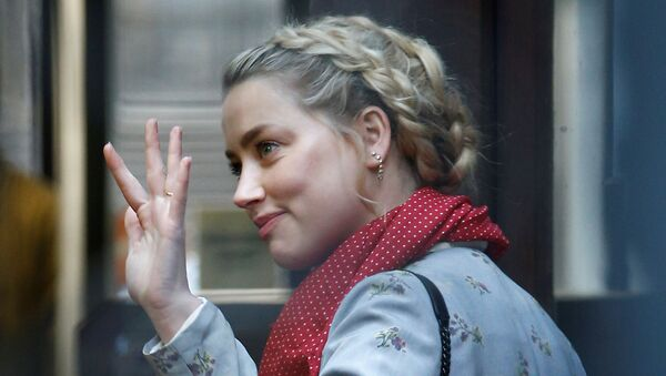 Amber Heard arriving at the High Court in London on 21 July 2020 - Sputnik International