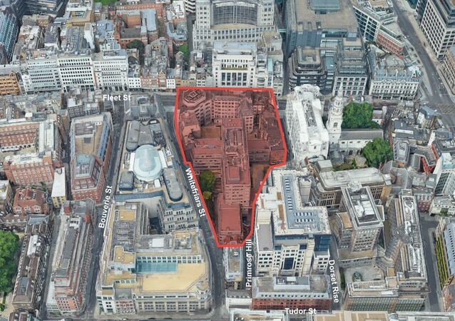 The area off Fleet Street in central London where the new police and courts complex would be housed