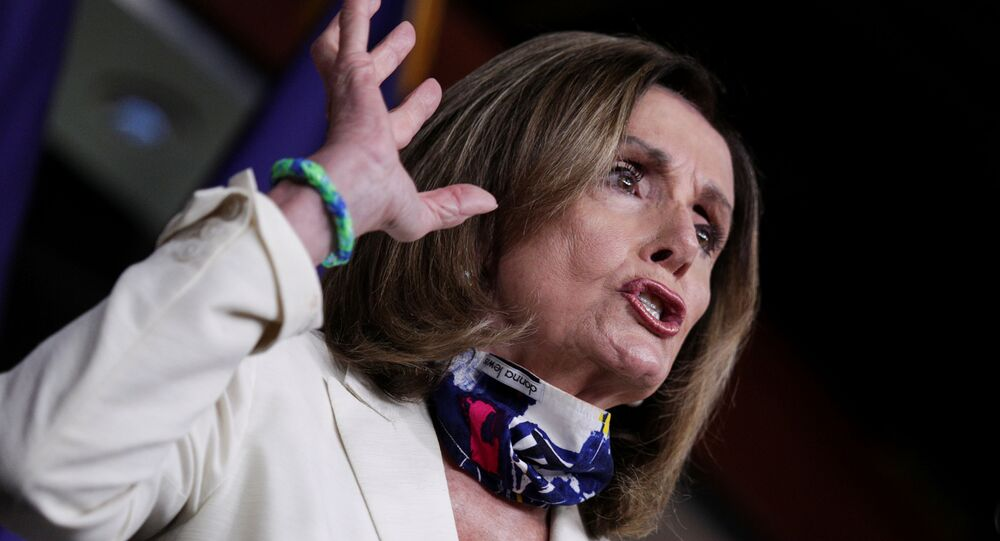 U.S. House Speaker Nancy Pelosi (D-CA) speaks to reporters during her weekly news conference on Capitol Hill in Washington, U.S., July 16, 2020