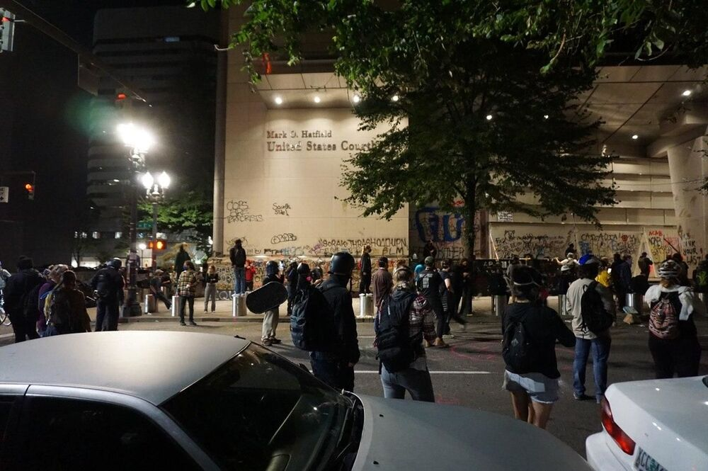 Protests have been ongoing in Portland for nearly two months, sparked by George Floyd's killing