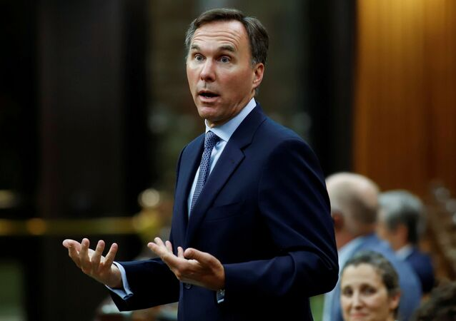 Canada's Minister of Finance Bill Morneau answers a question in the House of Commons on Parliament Hill in Ottawa, Ontario, Canada July 8, 2020.