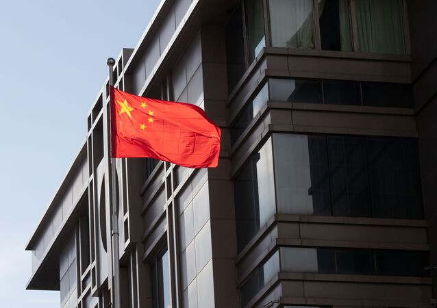 China's national flag is seen waving at the China Consulate General in Houston, Texas, U.S., July 22, 2020