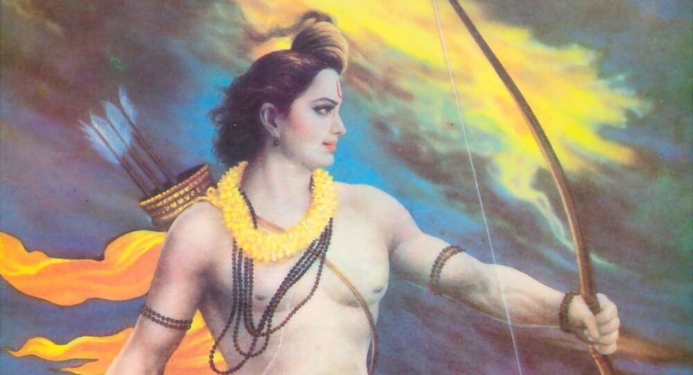 Rama and the ocean