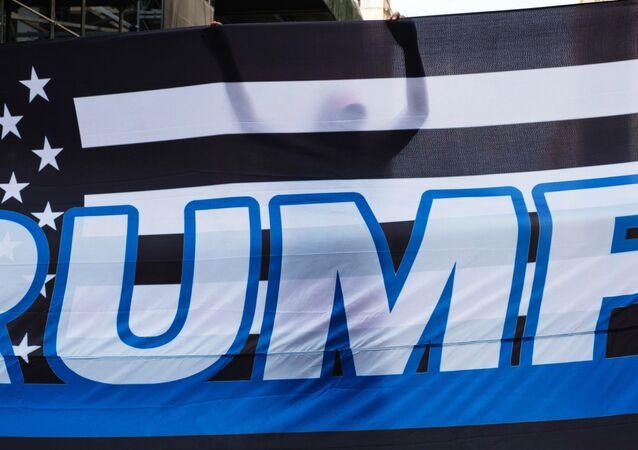 Pro-Trump flag