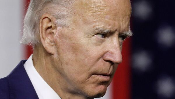 Democratic US presidential candidate and former Vice President Joe Biden concludes remarks about his plans for tackling climate change during a campaign event in Wilmington, Delaware, US, 14 July 2020 - Sputnik International