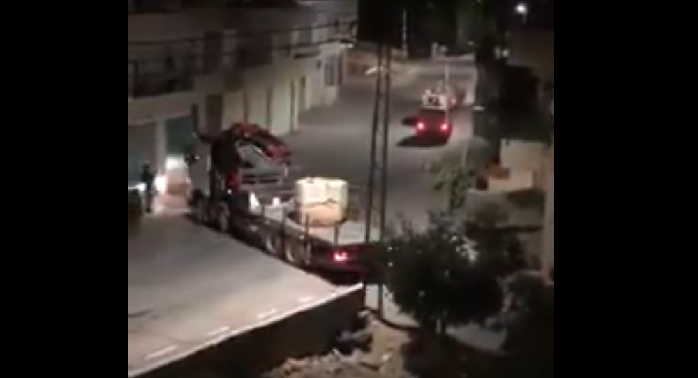 Israeli occupation forces stole a historical baptismal font dating back to the 6th century from the city of Bethlehem last night.