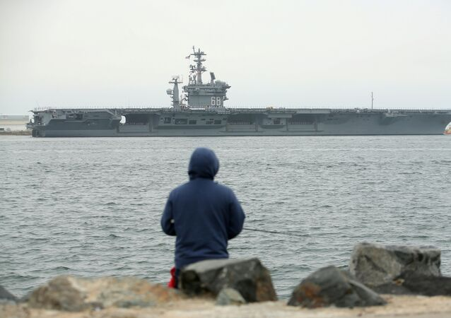 Aircraft carrier USS Nimitz with Carrier Strike Group 11 depart from San Diego, California