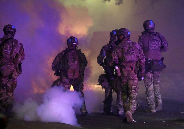 Federal law enforcement officers in Portland, Oregon