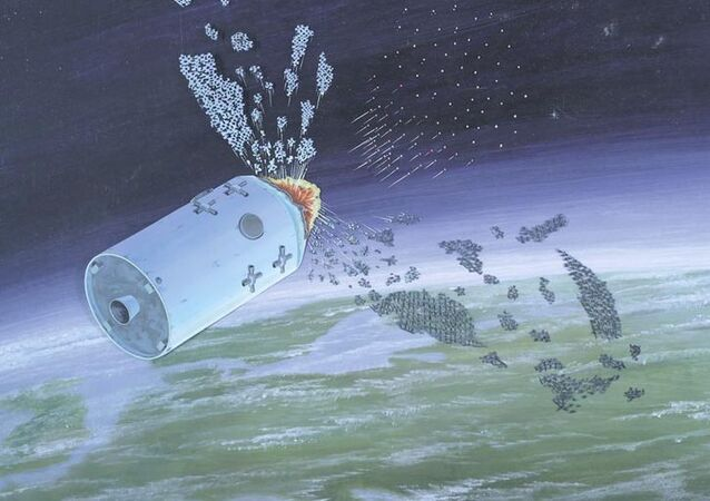 Defence Intelligence Agency illustration of an anti-satellite weapon from the publication Soviet Military Power.