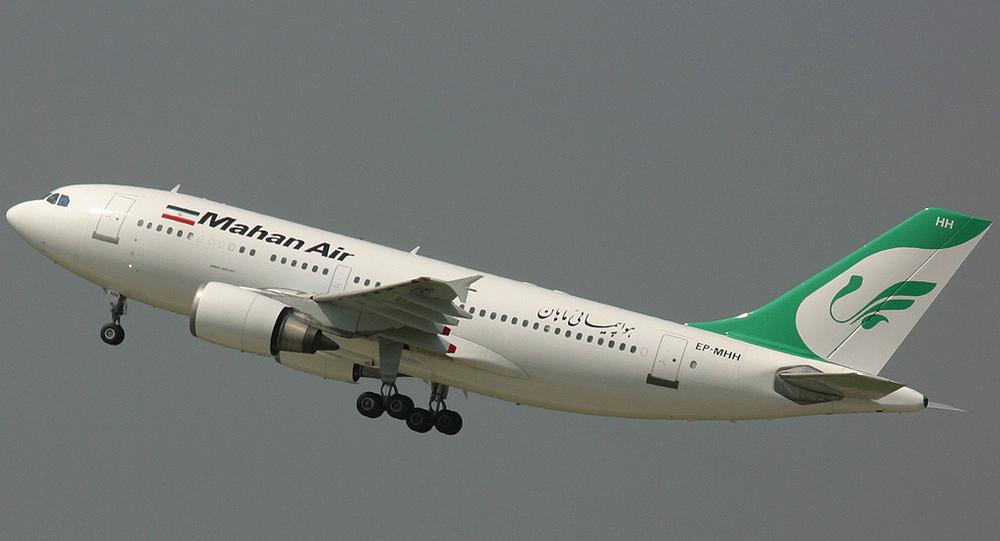 A Mahan Air Airbus A310-300. File photo.