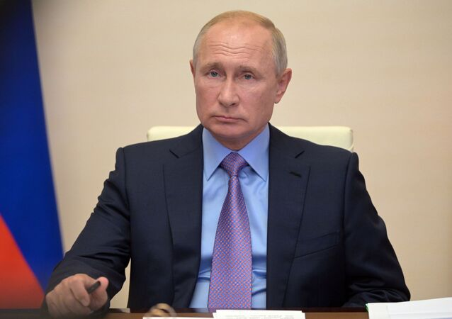Russian President V. Putin holds a meeting on the federal budget for 2021 and for the planning period of 2022 and 2023
