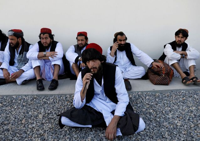Freed Taliban prisoners in Kabul