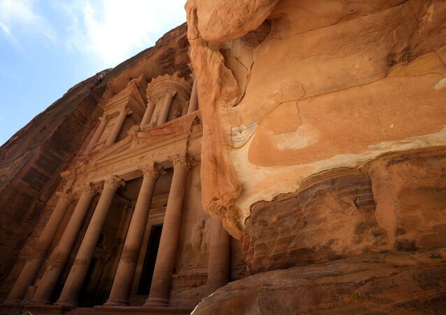 The treasury site in the ancient city of Petra is seen empty of tourists after the government closed all tourist facilities in the country amid concerns over the spread of the coronavirus disease (COVID-19), Jordan June 3, 2020.